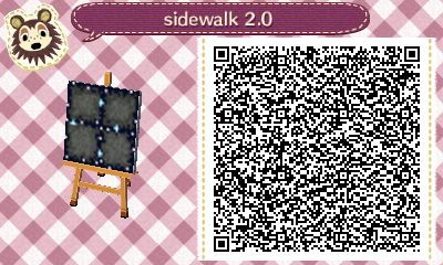 Space Sidewalk AC: New Leaf qr code Space Sidewalk AC: New Leaf qr code   Looking for space designs for the next Happy home designer Challenge.. Start's 1/1  Looks like we get the space ship w/ aliens underneath.. But looks better than the acnl one lol Cool I can't wait. Good luck All =^T^=