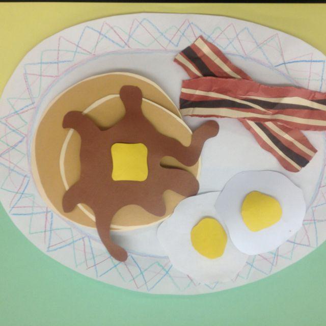 Paper sculpture food. Middle school art. Grade 7.