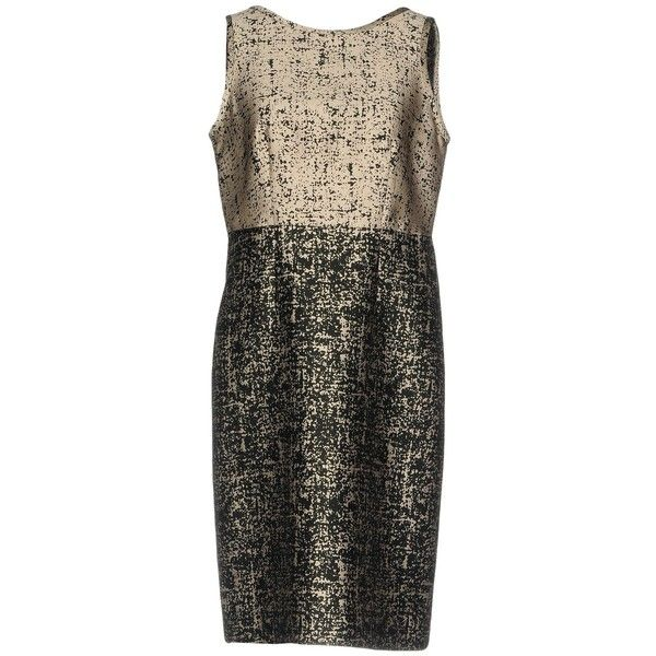 Gerard Darel Short Dress (£129) ❤ liked on Polyvore featuring dresses, beige, sleeveless swing dress, mini dress, zip dress, gérard darel and swing dresses