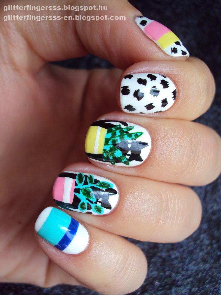 Мода на ногти   Карен Уолкер + учебник ~ Glitterfingersss на английском языке