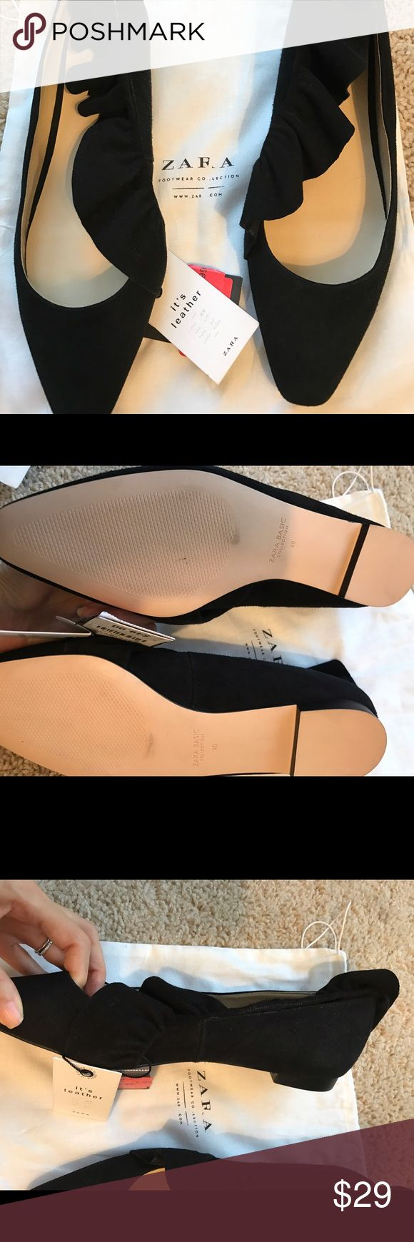 Zara black flats nwt Zara flats Zara Shoes Flats & Loafers