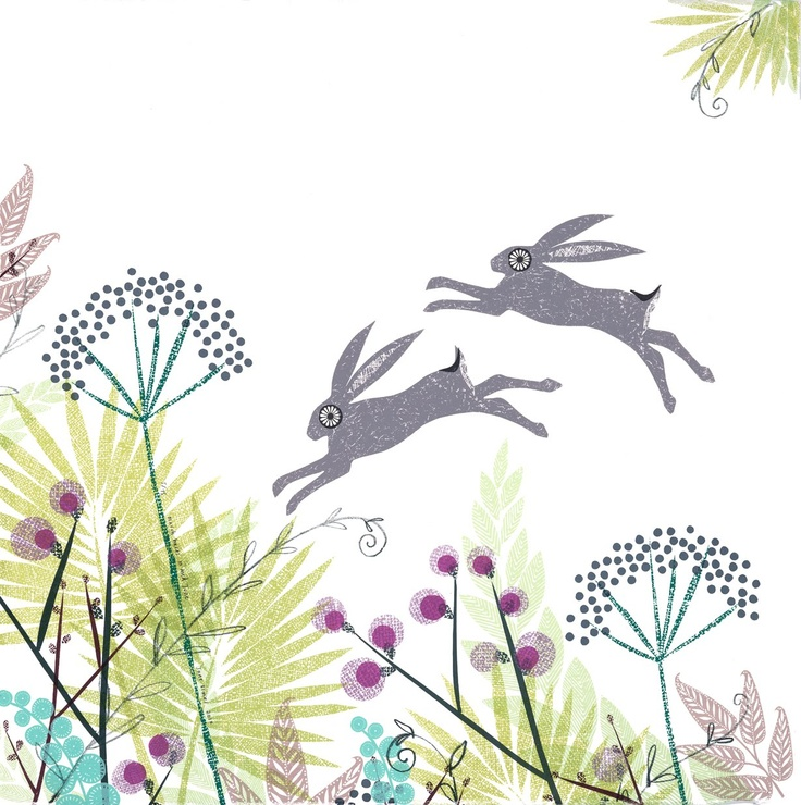 Jane Ormes Printmaker: March Hares in Mid-June