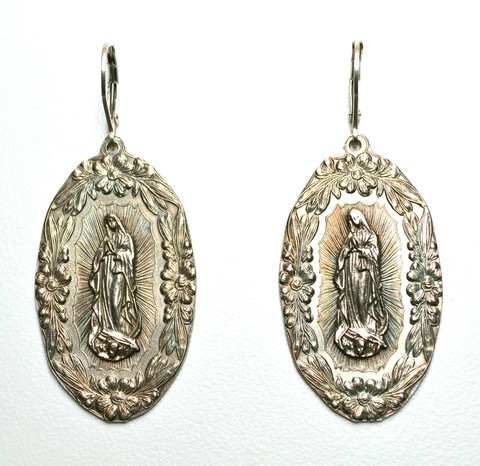 ilaments — Virgen de Guadalupe Medallion Earrings