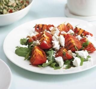 Grilled Tomatoes with Feta and Rocket