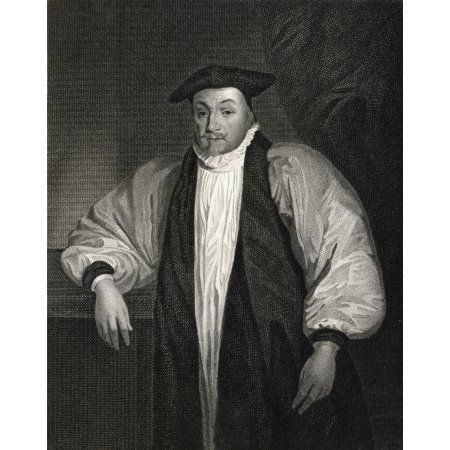 William Laud 1573-1645 Archbishop Of Canterbury From The Book Lodge-S British Portraits- Published London 1823 Canvas Art - Ken Welsh Design Pics (13 x 17)