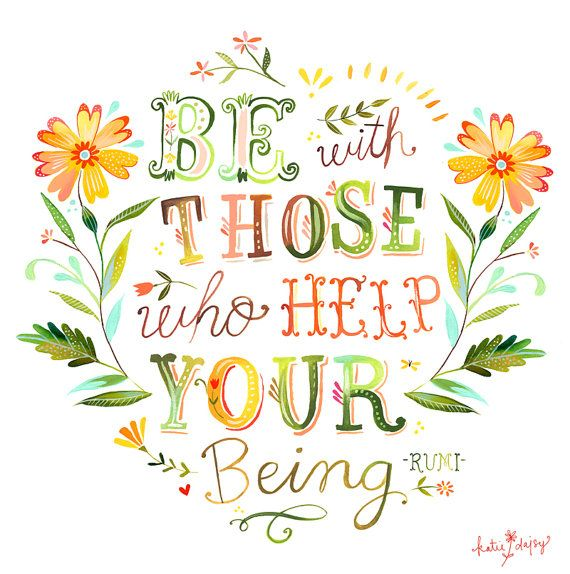 Help Your Being horizontal print by thewheatfield on Etsy, $18.00