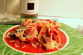 Dinner: Stuffed Shells with Sun-dried Tomatoes, Pepper and Spinach