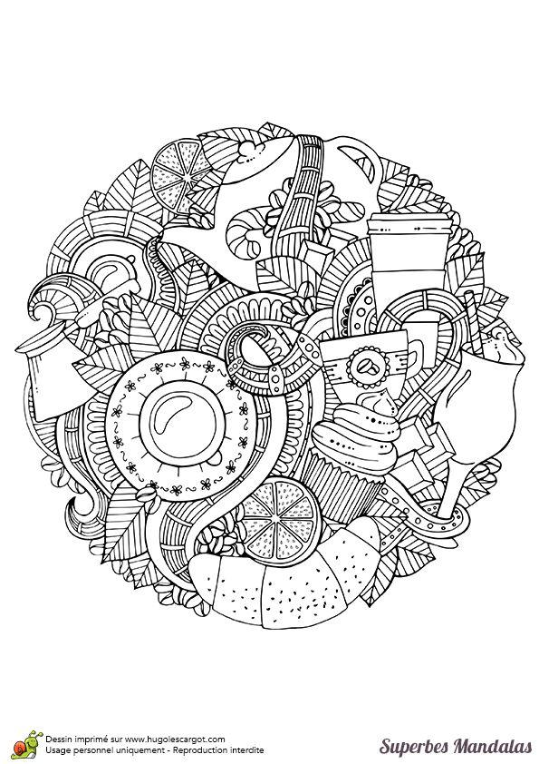 47 best coloriage images on Pinterest | Mandala coloring, Mandalas ...