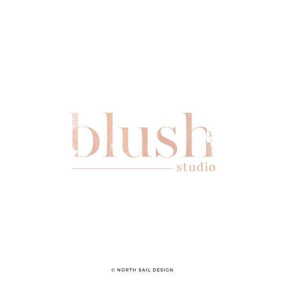 Blush Studio Premade Logo Makeup Artist Logo by NorthSailDesign