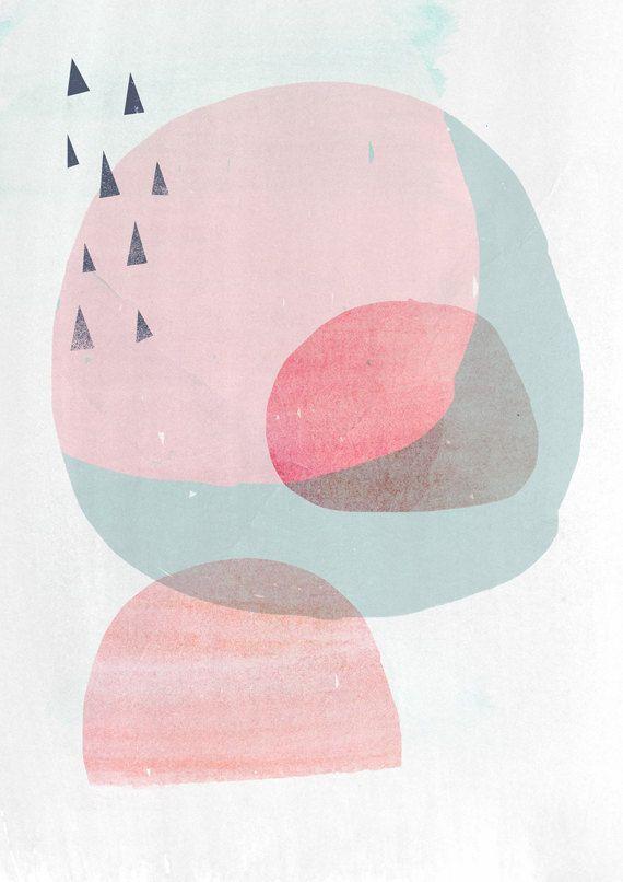 abstract organic shapes art print circles ++ ammiki