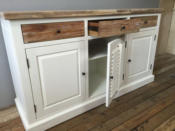 25 beste idee n over eiken meubelen verven op pinterest eiken kasten verven kasten - Oude meubilair dressoir ...