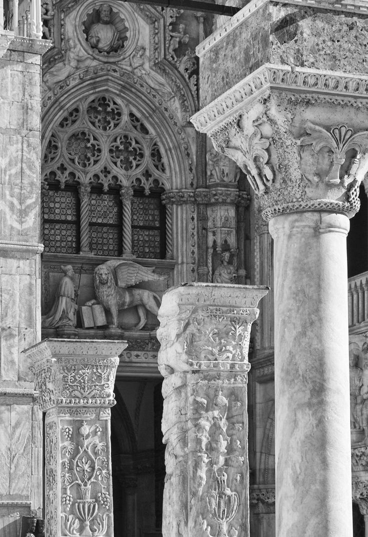 Stonework details, Saint Mark's Basilica and Doge's Palace, Venice.