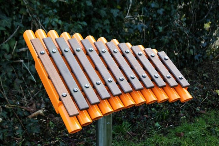 Cadenza's are a small & stylish outdoor musical instrument for one player.  Strong, weather-proof & durable, the notes are arranged as a traditional xylophone or glockenspiel with low to high notes, covering two octaves.  Lovely curved design, perfect for exploring possibilities with melody, harmony & rhythm. #PlaygroundCentre #PlaySpace #PlayGround #Fun #CadenzaMusicalInstrument #Cadenza