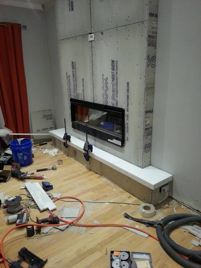 This Family Remodeled Their Living Room With A New Homemade Fireplace