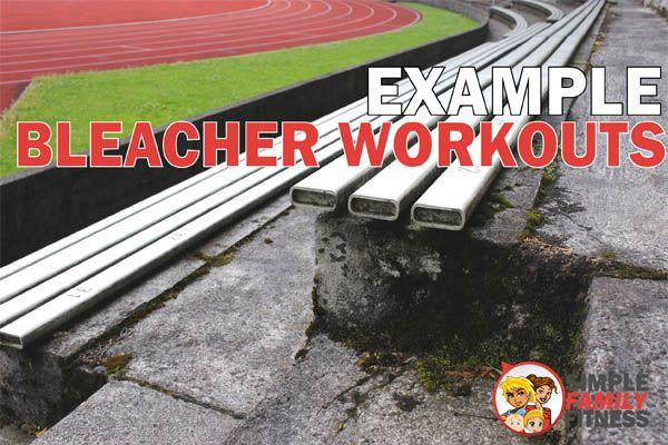examples of bleacher workouts