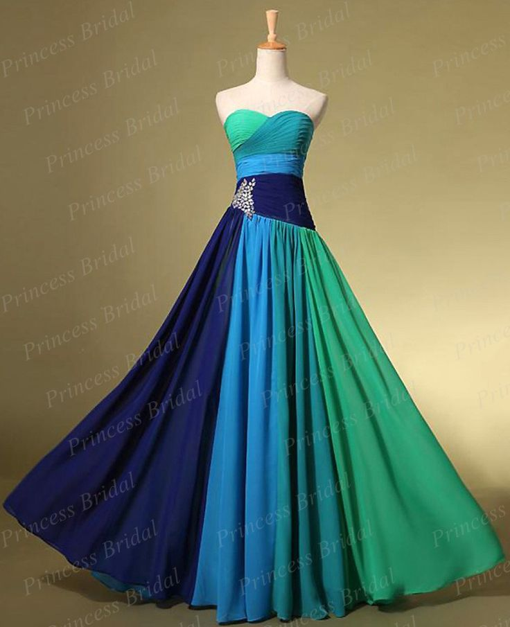 ==> [Free Shipping] Buy Best High Quality Sheath Sweetheart Lace Up Back Long Flowing Chiffon Party Dress Multi Color Prom Dresses With Crystals MF329 Online with LOWEST Price | 32215558942