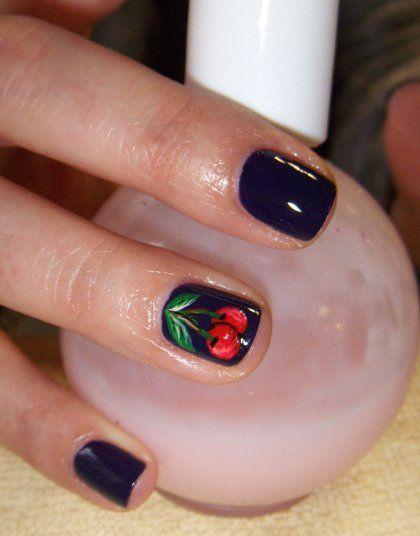 fingernail art designs | dark cherry nail art design | Nail Art Ideas