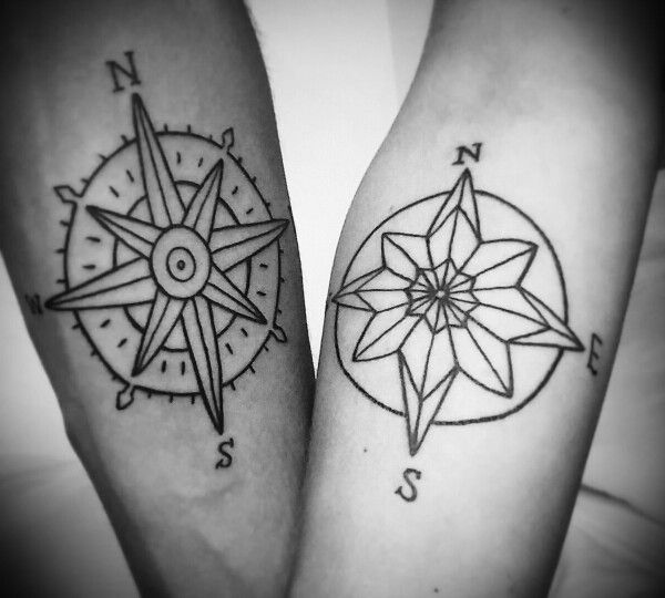 Really happy with our compass tattoo!