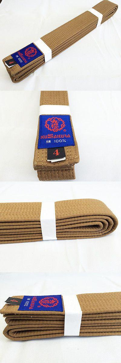 Belts and Sashes 73981: Kusakura Japan Judo Gi Cha Obi Brown Belt Jc Br BUY IT NOW ONLY: $35.0