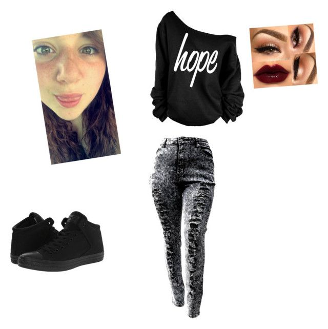 """""""Me going to the football game tomorrow night"""" by iamabigtimeralways on Polyvore featuring Converse and Marchesa"""