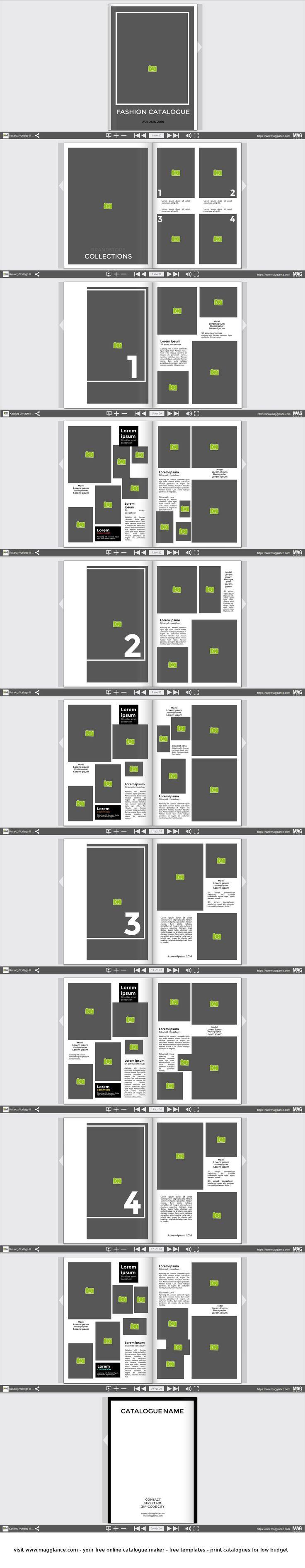 8 besten Katalog Vorlagen Bilder auf Pinterest | Designvorlagen ...