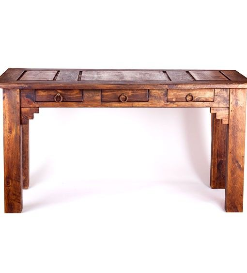 Samera Rustic Desk   Rustic Furniture | Reclaimed Wood Furniture   FoxDen  Decor