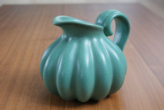 Pitcher vase shaped as a pumpkin from Danish by Danishartpottery, kr400.00