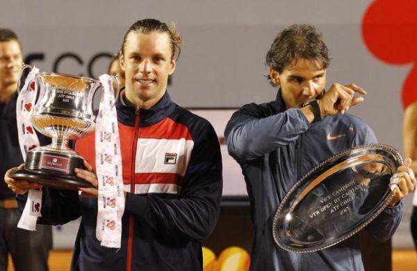 Horacio Zeballos cu trofeul de la Vina del Mar, in Chile