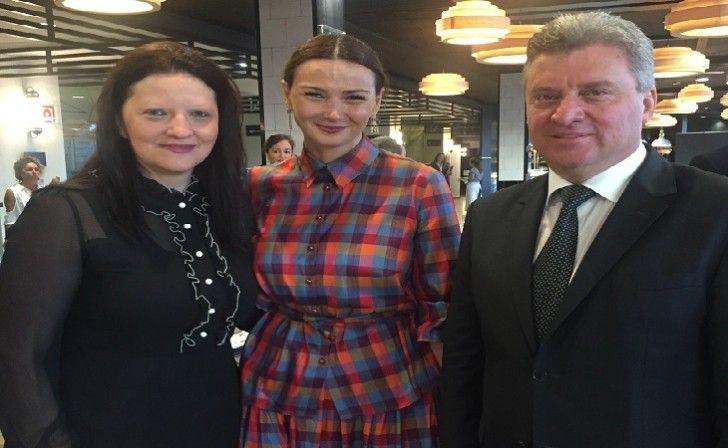Qənirə Paşayeva Makedoniya prezidenti ilə görüşüb