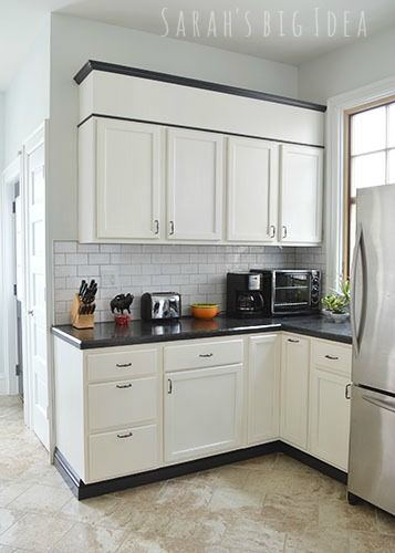 black baseboards under cabinet and baseboards on pinterest