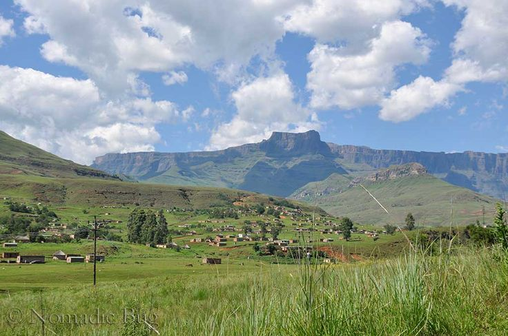 Villages in the hills, Northern Drakensberg, South Africa   Nomadic Existence