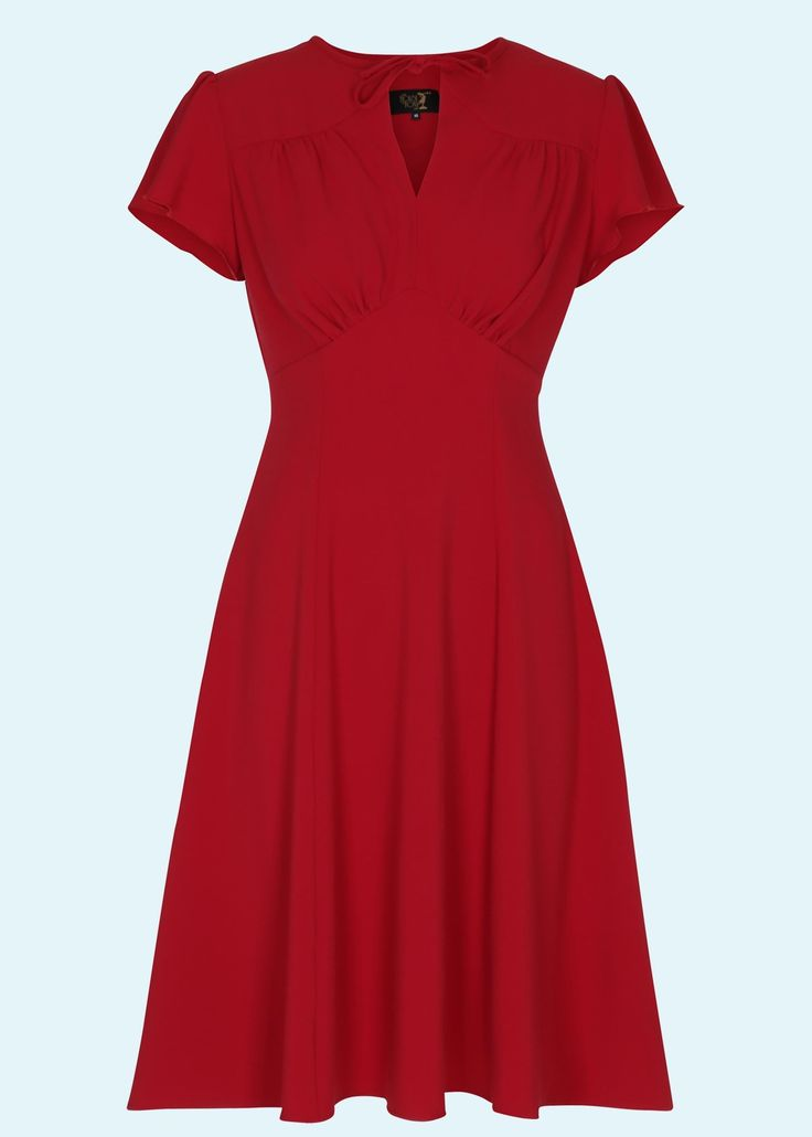 House Of Foxy: 40's Grable Tea Dress, Red