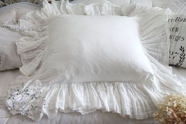 Beautiful White Cotton 24 Quot Gauze Ruffle Around Button