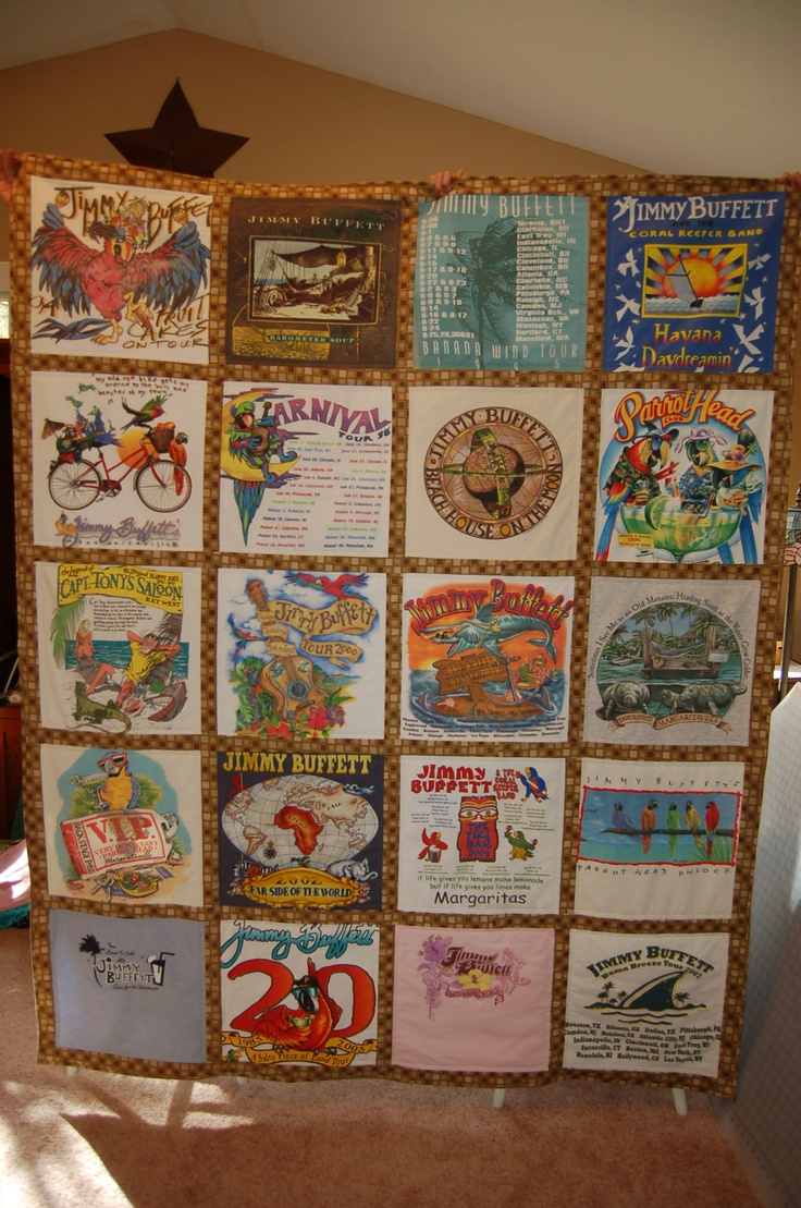 Jimmy Buffet concert t-shirt quilt.