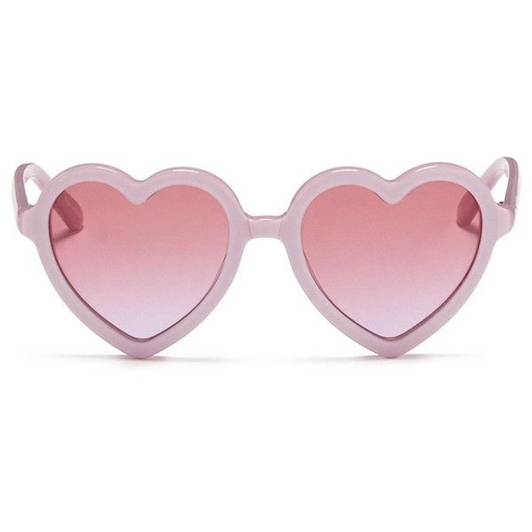 Sons+Daughters Eyewear 'Lola' kids acetate heart shape sunglasses (1,760 MXN) ❤ liked on Polyvore featuring accessories, eyewear, sunglasses, purple, heart glasses, heart sunglasses, purple glasses, heart shaped glasses and acetate sunglasses