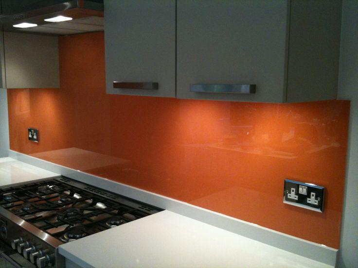 Splashback for the kitchen - Orange