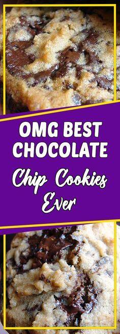 OMG Best Chocolate chip cookies EVER #dessertrecipes #copycatrecipe #recipe #dessert #desserttable #appetizer