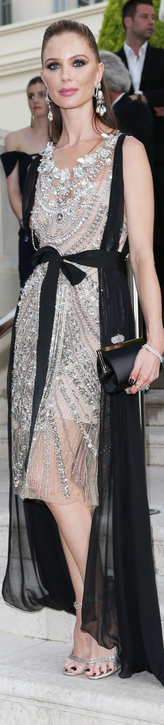 Georgina Chapman in Marchesa Cannes Film Festival 2017