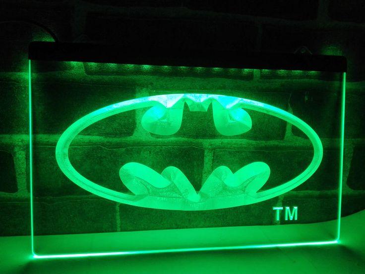 Details About Lc001 Batman Hero Man Cave Led Neon Light Sign Home Decor Crafts