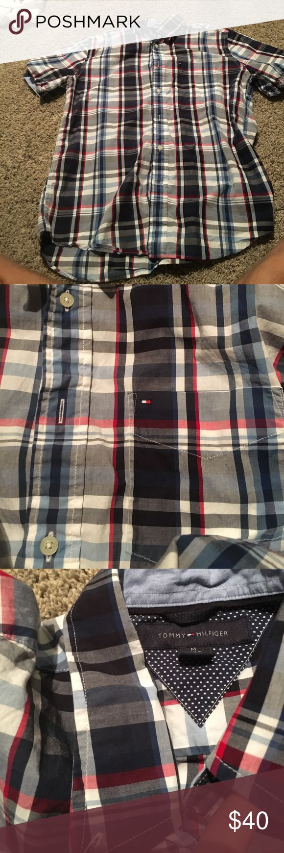 Selling this Men's Tommy Hilfiger Short Sleeve Dress Shirt on Poshmark! My username is: rudofski3. #shopmycloset #poshmark #fashion #shopping #style #forsale #Tommy Hilfiger #Other