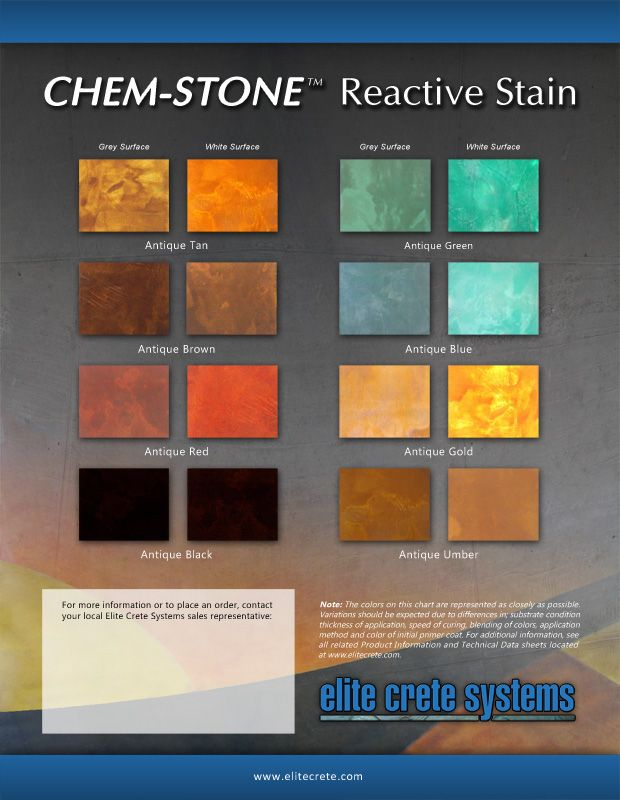Flooring Color Amp Finish Charts Amp Brochures Elite Crete