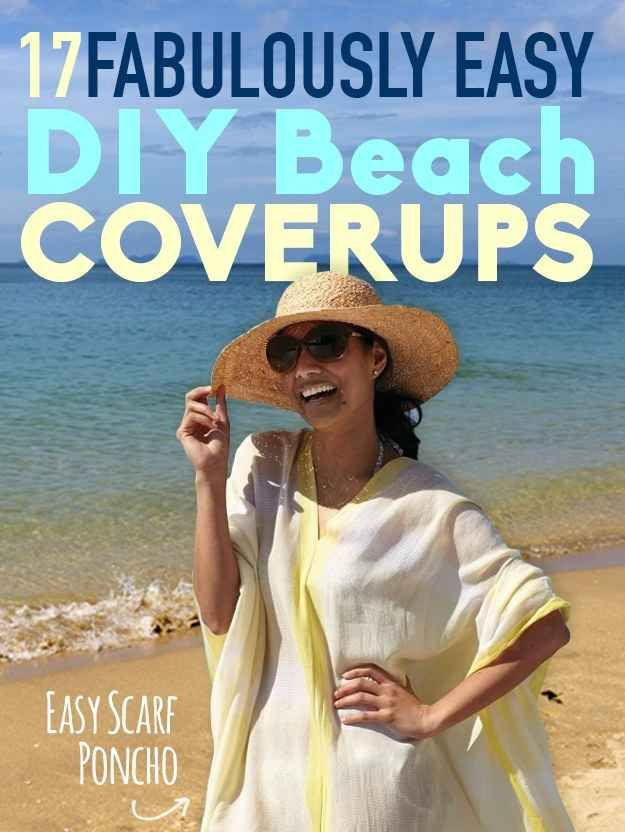 Creative ideas for covering up at the beach or poolside! #summer #swimwear