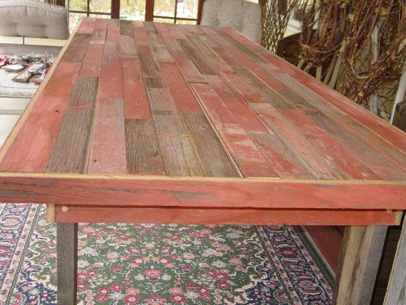 9 1/2 ft reclaimed harvest table country farm table farmhouse farmers benches dining table repuposed