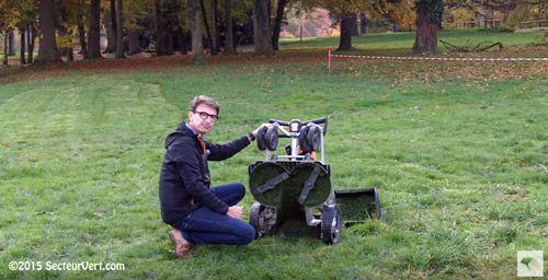 PELLENC : Scoop Secteur-Vert.com ! Découvrez la nouvelle tondeuse à gazon autotractée à batterie Rasion Smart présentée aux MIEV 2015 par Bertrand Pellenc