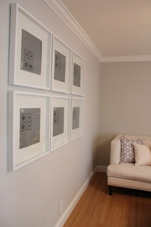 gallery wall using ikea ribba frames