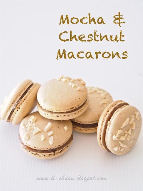 Mocha and Chestnut Macarons