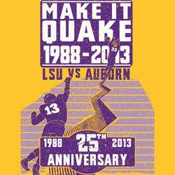LSU vs Auburn 25th Anniversary of the Earthquake Game Shirt