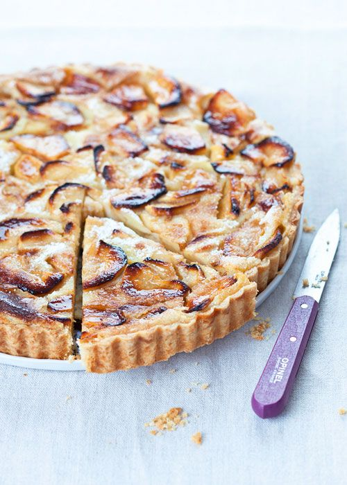 Julia Child's tarte normande aux pommes (normandy apple tart)