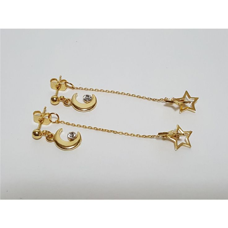 Korean Fashion Jewelry Moon & Star Drop Earring For Women Girls Ladies #Rielar #Stud