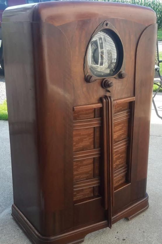 1938 zenith 15u269 am console tube radio beautiful see for Zenith sofa table